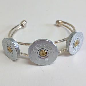 Jewelry - Shotgun shell ammunition cuff bracelet gold tone